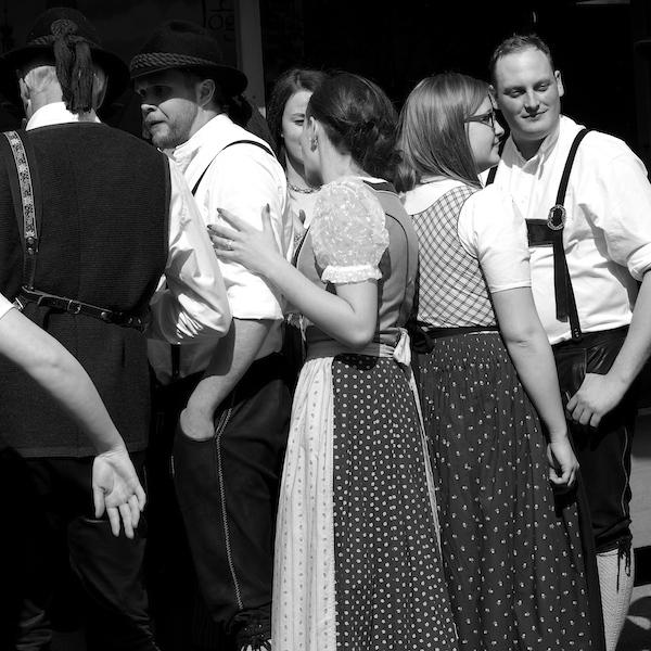 Austrian folklore dance group