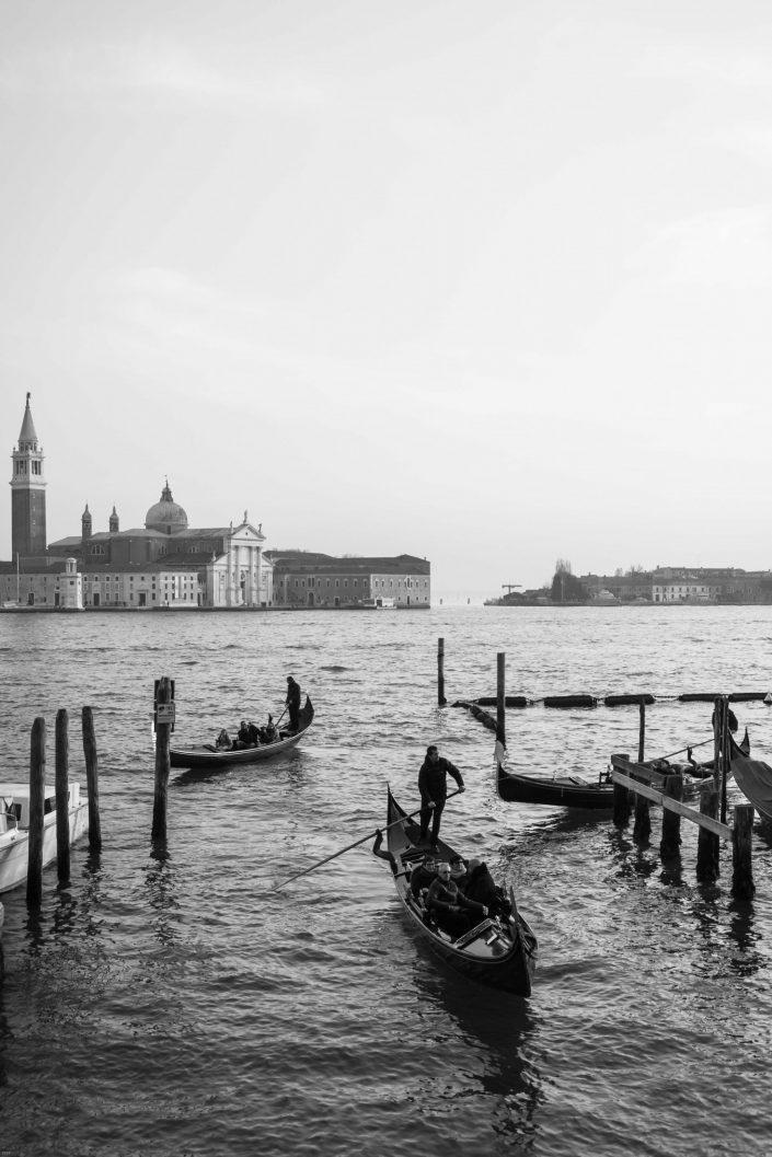 Venetian canals with gondolas