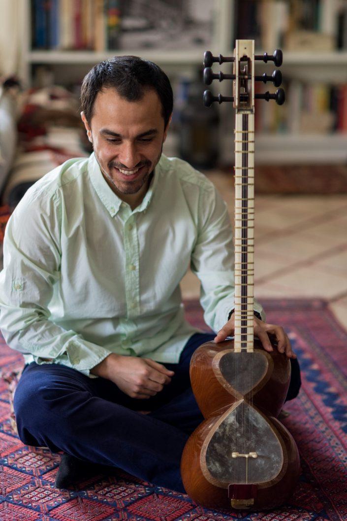 Iranian Tar player