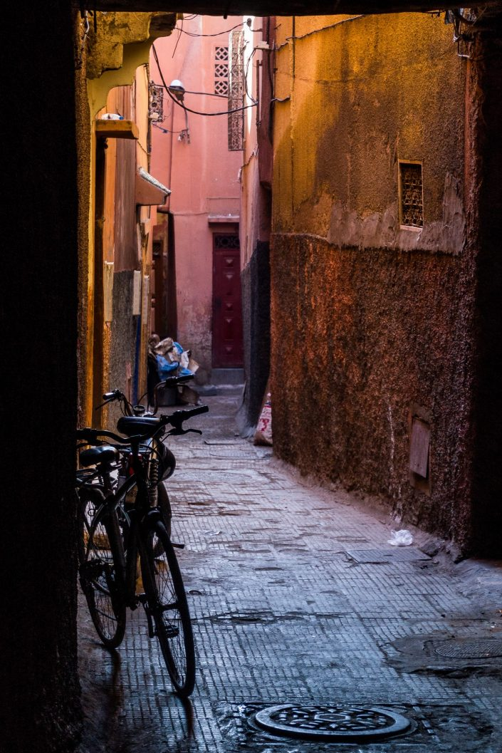 Colorful Marrakesh alleyway
