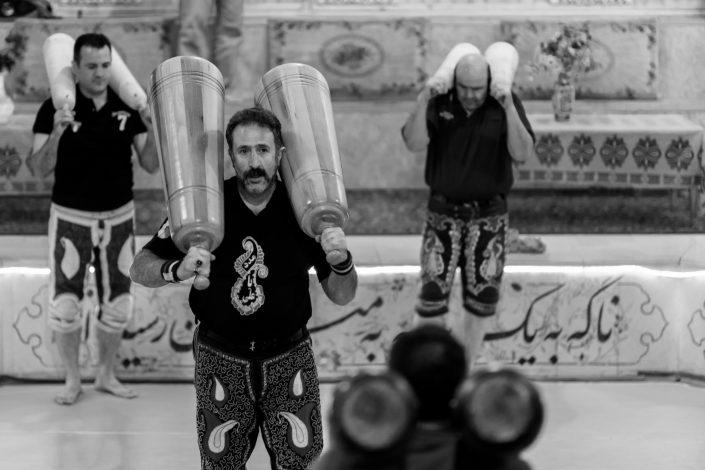 Male weight training, Zoorkhaney, Tehran