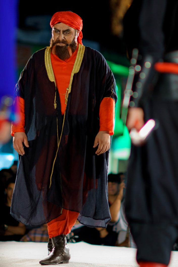 Ashura street theater actor performing, tehran