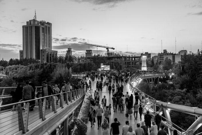 View of a crowded Tabiat bridge, Tehran