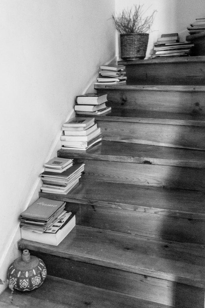 Staircase with books in each step, Lisbon
