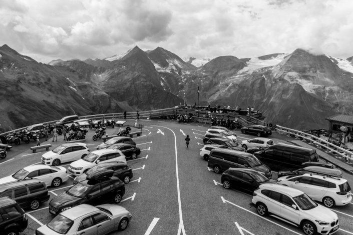 Snowy Mountain car park, Austria
