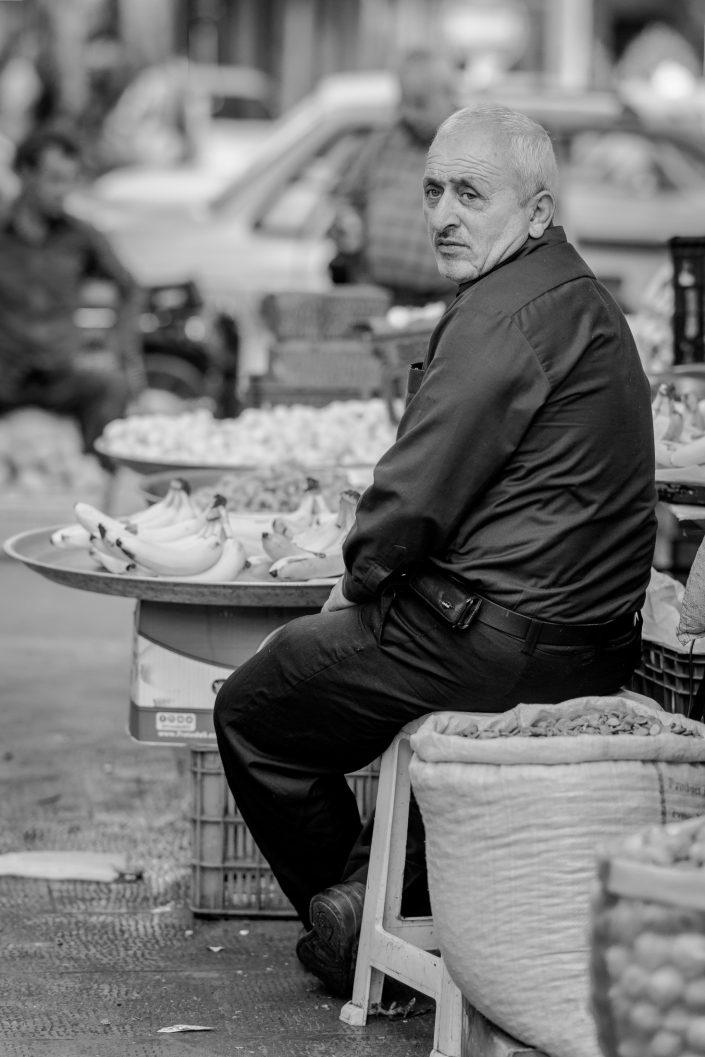 Fruit seller, bazar Tabriz, Iran