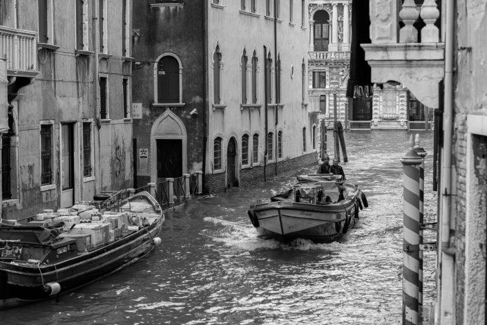 Venice Boats transporting merchandise