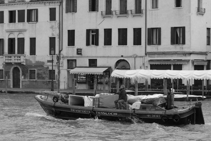 Venice Package delivering boat
