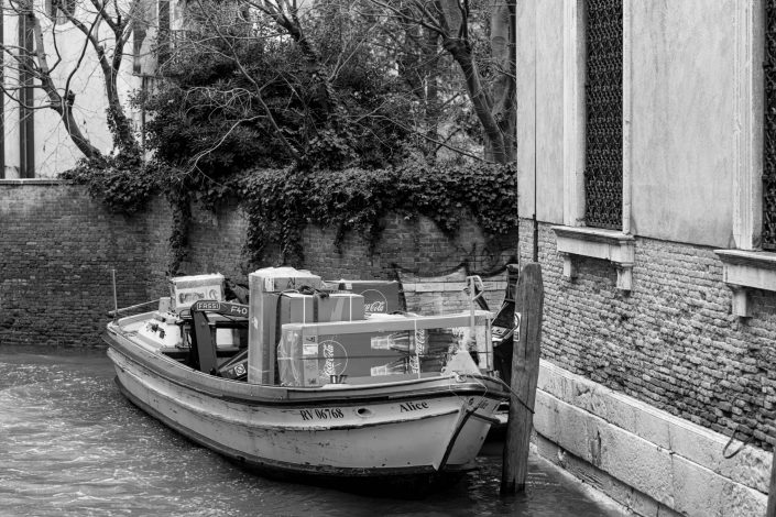 Venice transport boat