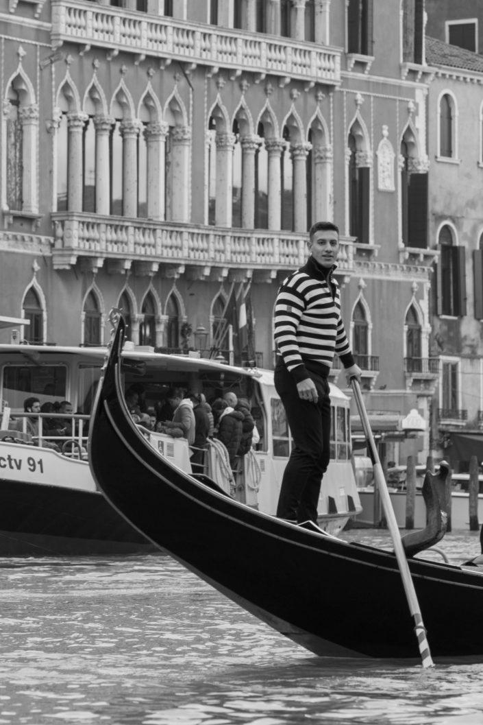 Venitian Gondolier on the gondola