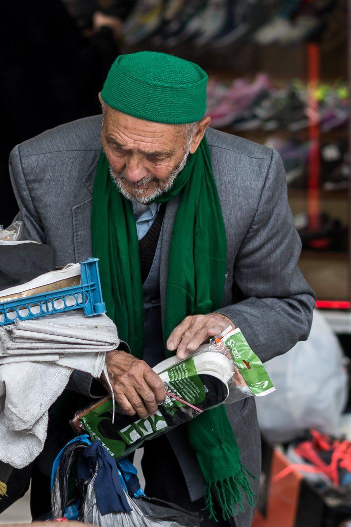 Old man street vendor