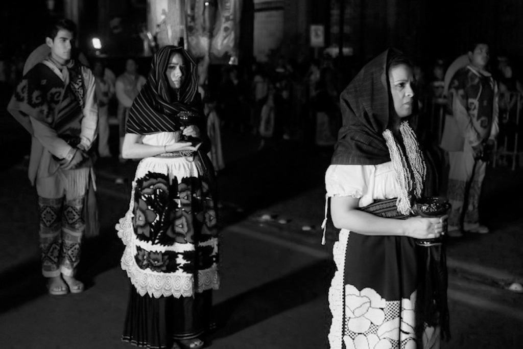 Devotion in Mexican procession